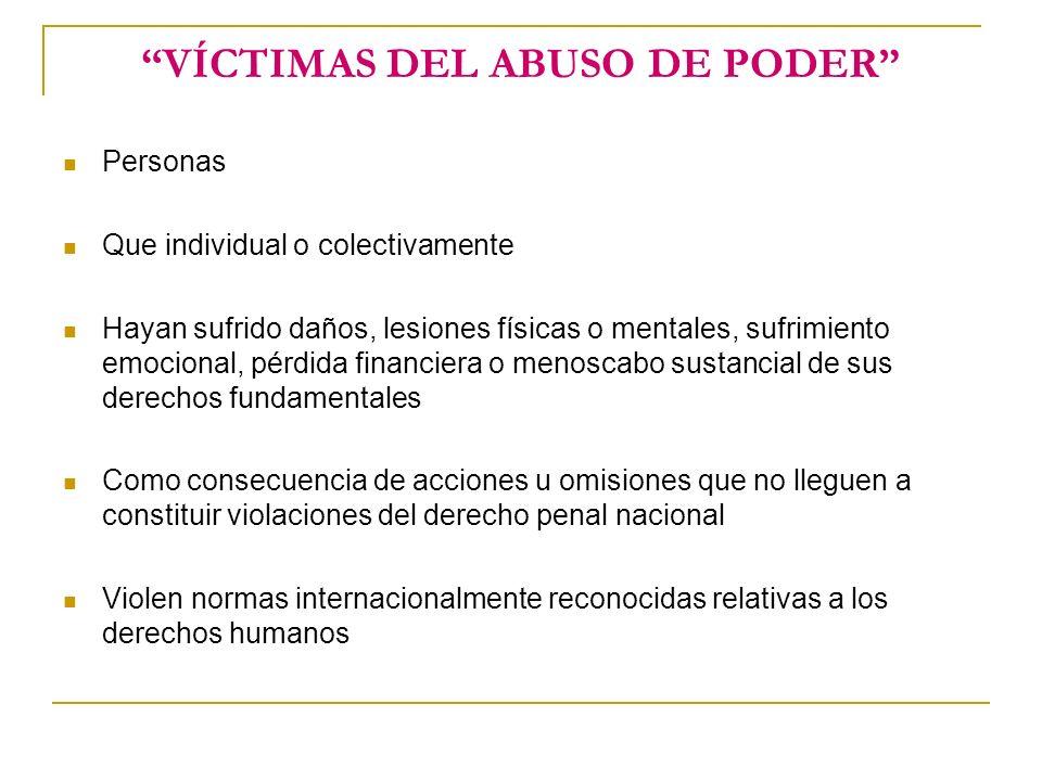 NIÑOS VÍCTIMAS Los niños, niñas y adolescentes menores de 18 años Que sean víctimas o testigos de delitos Independientemente de su papel en el delito o en el enjuiciamiento del presunto delincuente o grupo de delincuentes