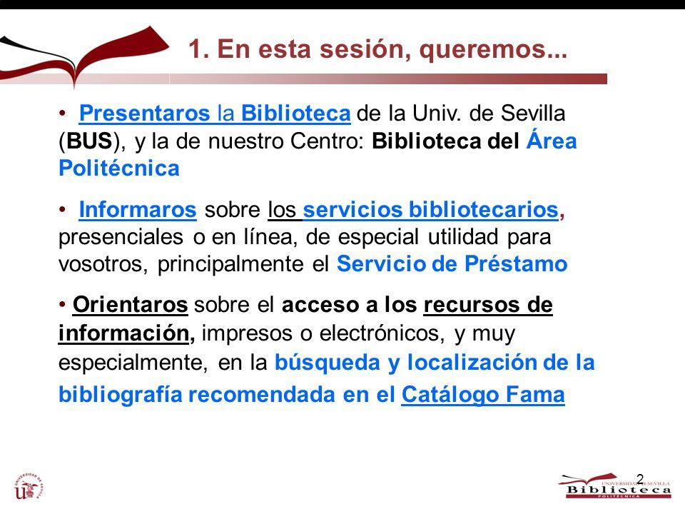 Ejs. Bibliografía recomendada. Búsqueda/s en Fama 23 http://fama.us.es http://encore.fama.us.es