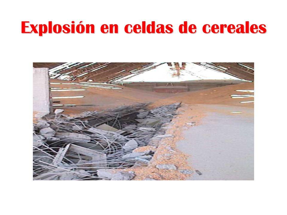 Explosión en celdas de cereales