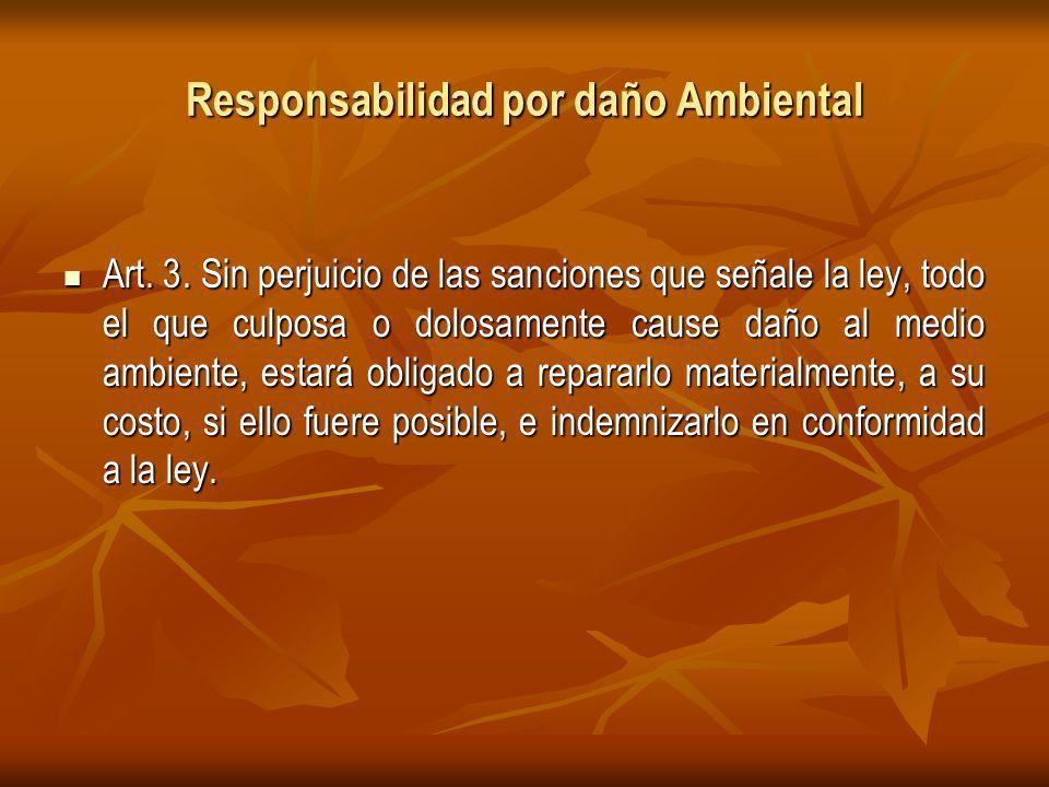 Responsabilidad por daño Ambiental Art.3.