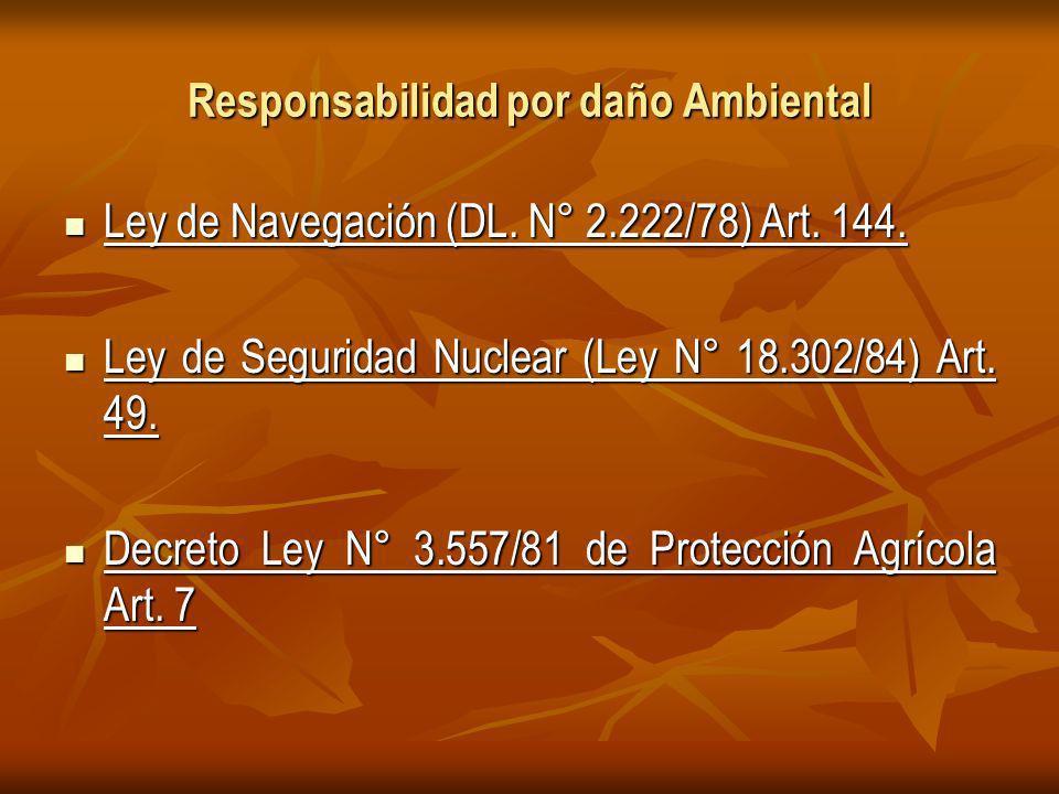 Responsabilidad por daño Ambiental Ley de Navegación (DL.