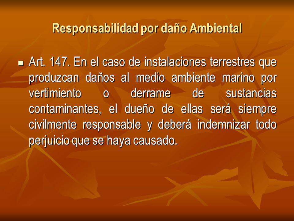 Responsabilidad por daño Ambiental Art.147.