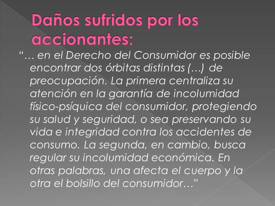 … en el Derecho del Consumidor es posible encontrar dos órbitas distintas (…) de preocupación.