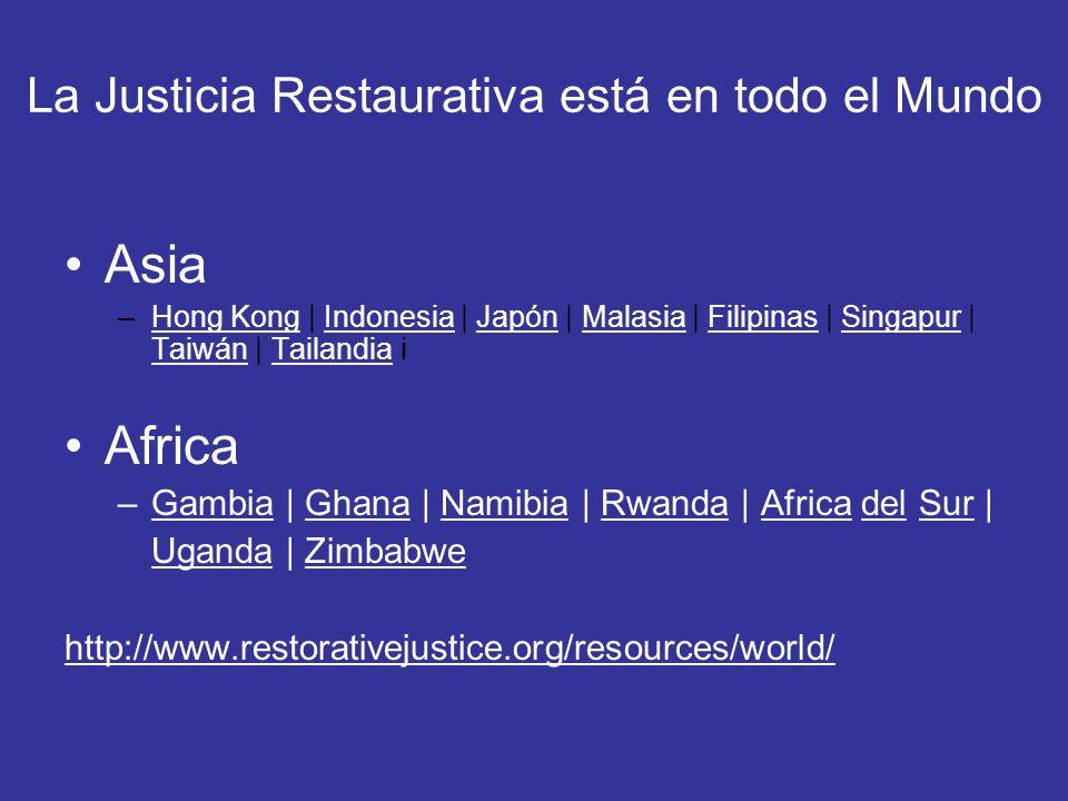 La Justicia Restaurativa está en todo el Mundo Asia –Hong Kong | Indonesia | Japón | Malasia | Filipinas | Singapur | Taiwán | Tailandia iHong KongInd