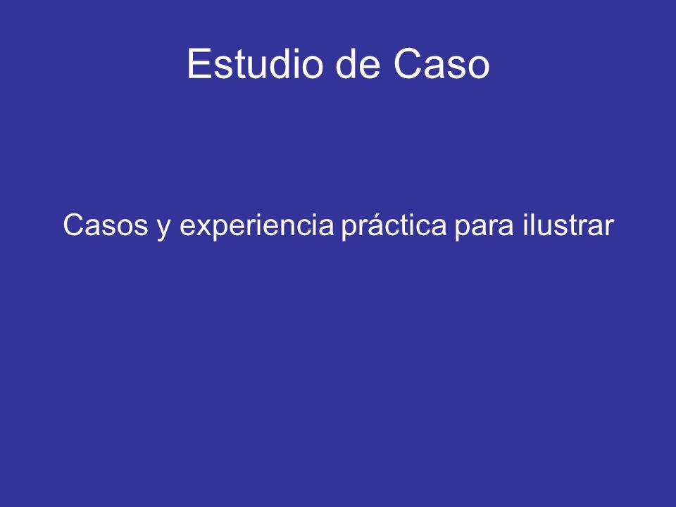 Estudio de Caso Casos y experiencia práctica para ilustrar