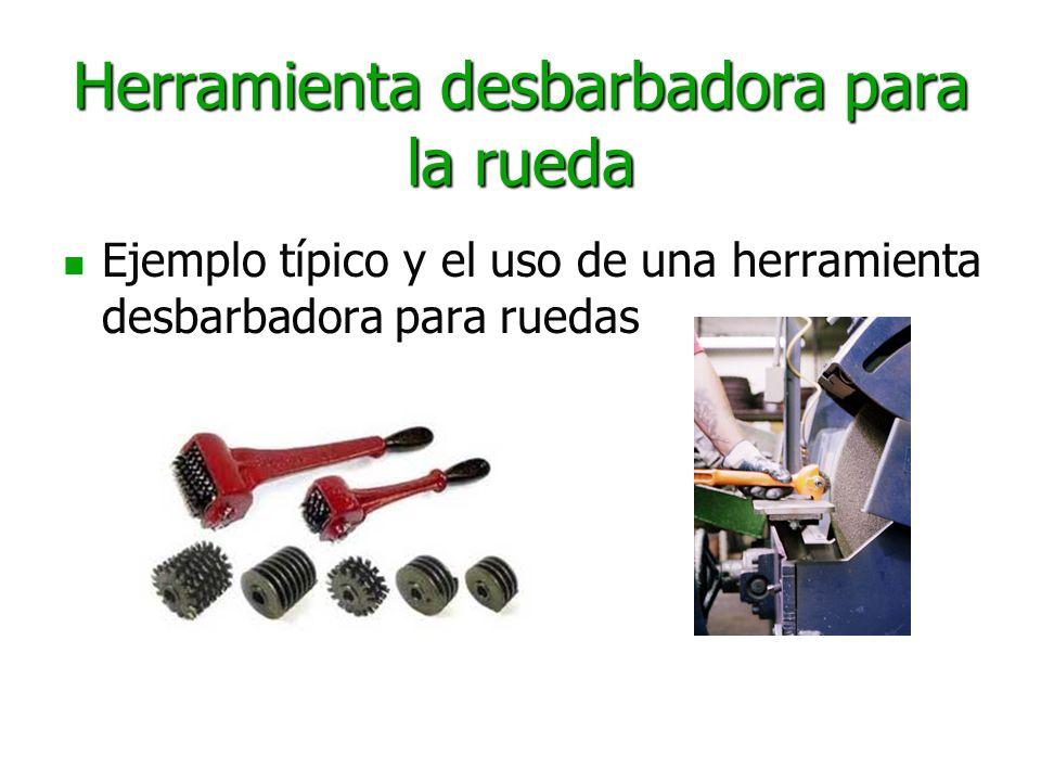 Herramienta desbarbadora para la rueda Ejemplo típico y el uso de una herramienta desbarbadora para ruedas