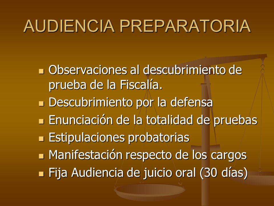 AUDIENCIA PREPARATORIA Observaciones al descubrimiento de prueba de la Fiscalía. Observaciones al descubrimiento de prueba de la Fiscalía. Descubrimie