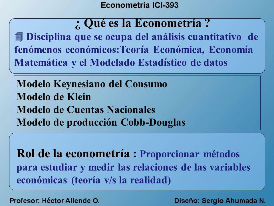 Aplicaciones de los modelos Econométricos 4 Ciencias de la Ingeniería 4 Ciencias Económicas 4Ciencias Naturales 4Ciencias Médicas 4 Ciencias políticas y sociales