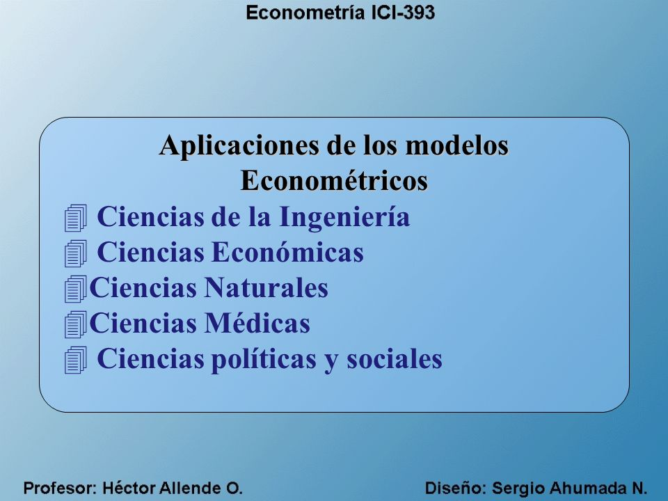 Modelo Keynesiano de Consumo (Fu Consumo) (Fu Ingreso) donde: Gasto de Consumo Ingresos Gasto de Inversión (Ahorro) Perturbación Aleatoria