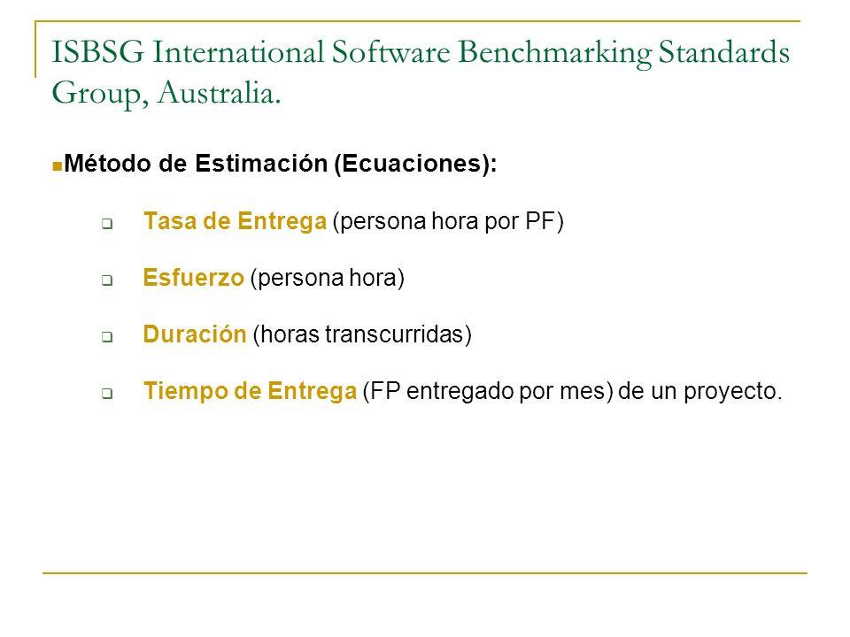 ISBSG Se basa en los datos del repositorio ISBSG.