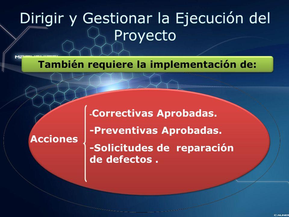Acciones - Correctivas Aprobadas.-Preventivas Aprobadas.