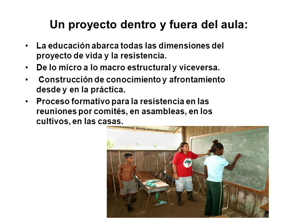 Un proyecto dentro y fuera del aula: La educación abarca todas las dimensiones del proyecto de vida y la resistencia.