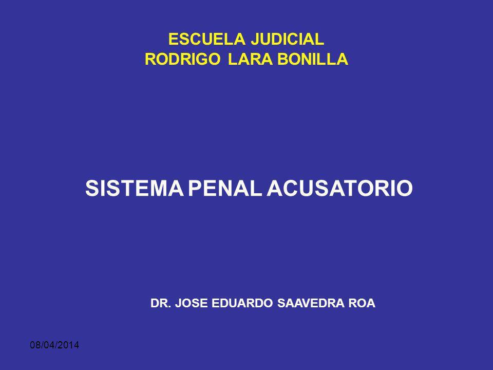 08/04/2014 LA ORALIDAD EN LAS ETAPAS PREVIAS AL JUICIO