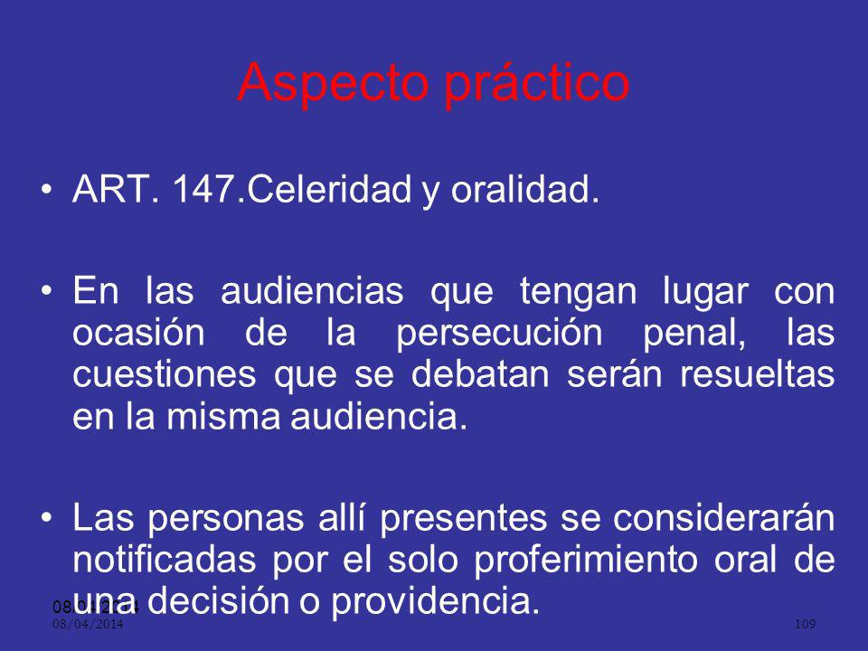 08/04/2014 108 Oralidad ART.9º.