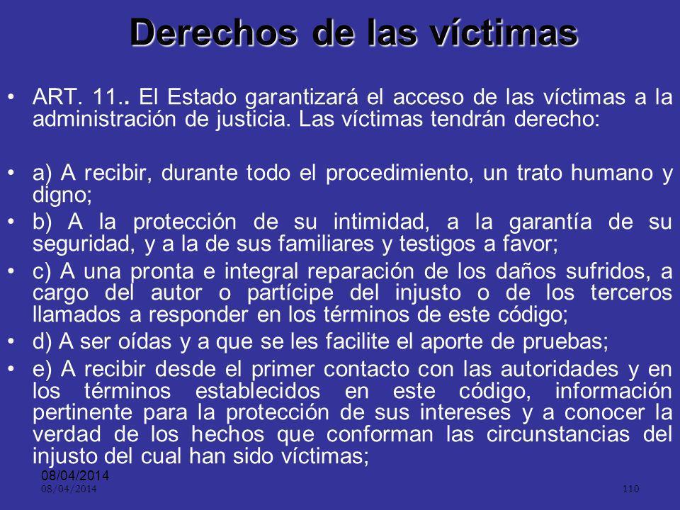 08/04/2014 109 Aspecto práctico ART.147.Celeridad y oralidad.