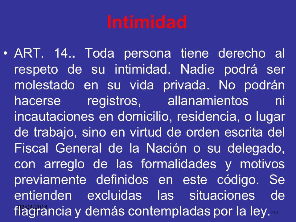 08/04/2014 113 Gratuidad ART. 13.. La actuación procesal no causará erogación alguna a quienes en ella intervengan, en cuanto al servicio que presta l