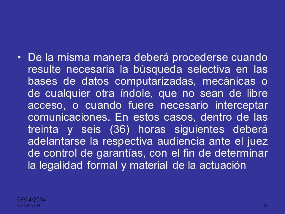 08/04/2014 114 Intimidad ART.14.. Toda persona tiene derecho al respeto de su intimidad.