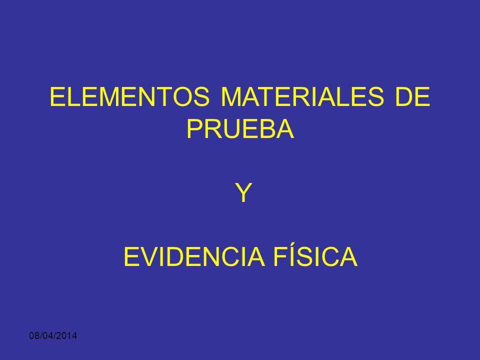 08/04/2014 Según el medio utilizado para presentarla en el juicio puede ser: Evidencia Demostrativa Identificación y autenticación de la evidencia Equ
