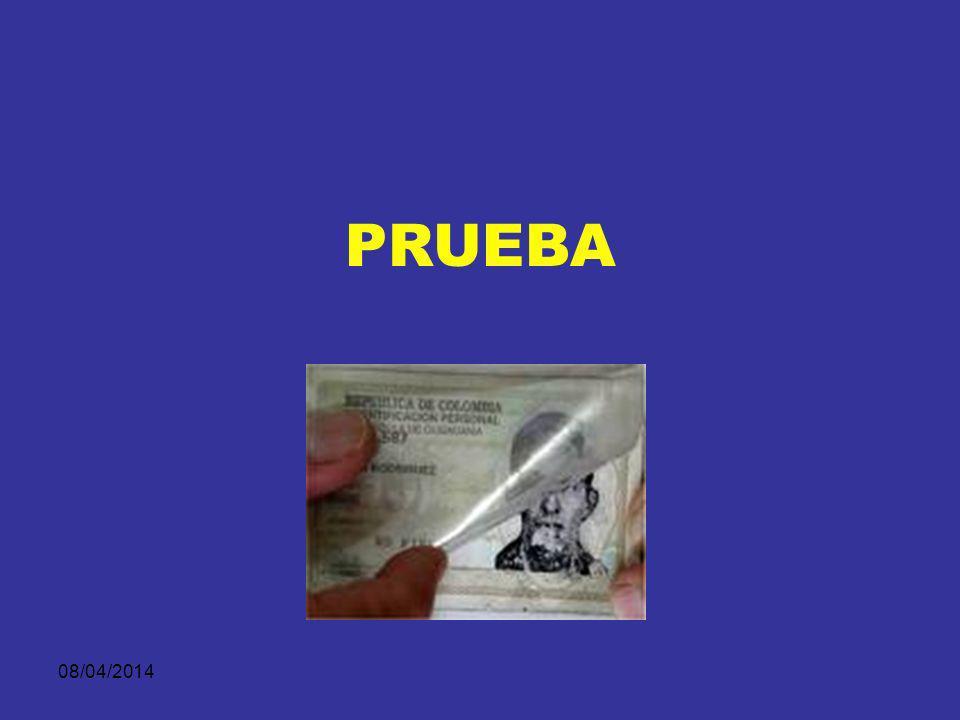 08/04/2014 ELEMENTOS MATERIALES DE PRUEBA Y EVIDENCIA FÍSICA Mensajes de datos, Internet, correo electrónico, telegrama, telex, telefax o similar. Tod