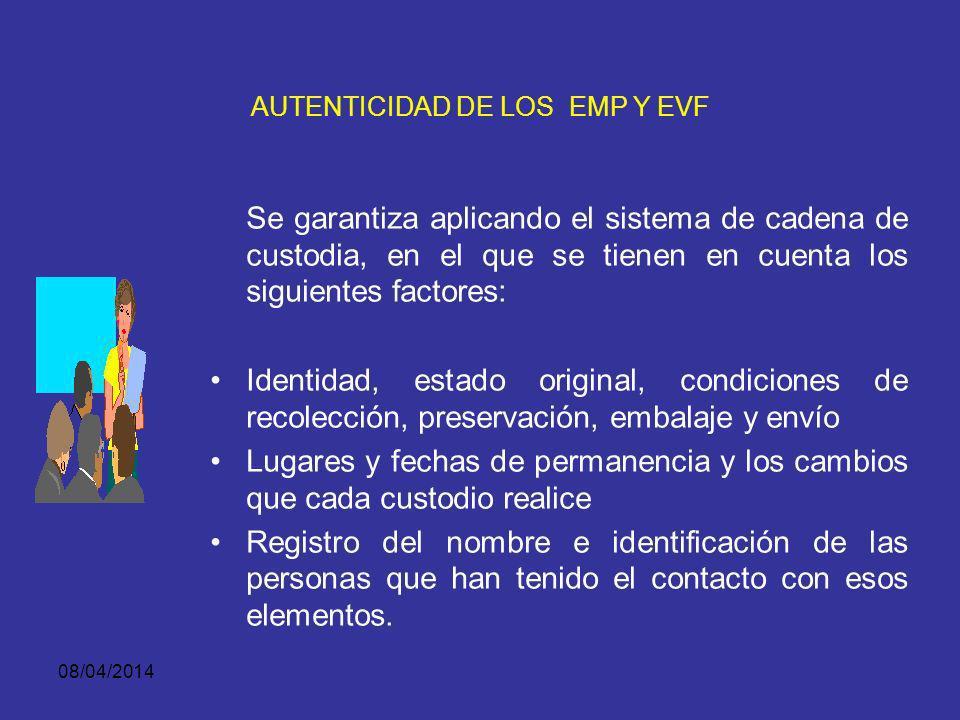 08/04/2014 AUTENTICIDAD DE LOS EMP Y EVF