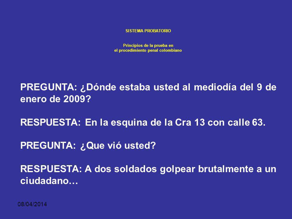 08/04/2014 SISTEMA PROBATORIO PERTINENCIA, AUTENTICACIÓN Y ADMISIBILIDAD DE LA PRUEBA A fin de respetar el tiempo del juez, la evidencia no será oída