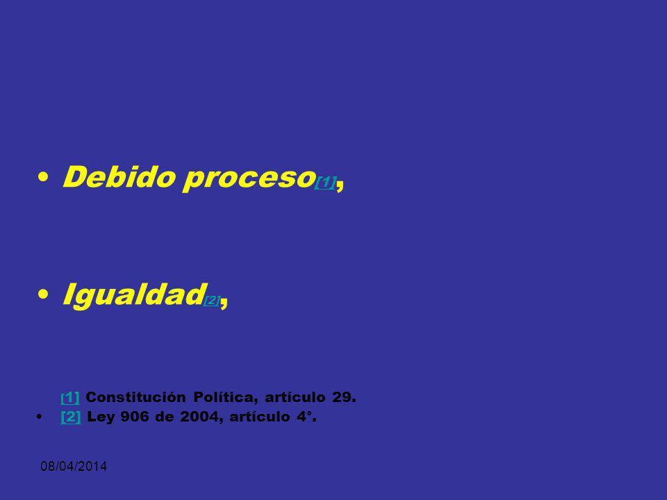 08/04/2014 El descubrimiento probatorio se relaciona directamente con los principios que a continuación se mencionan y cuya vigencia reafirma:
