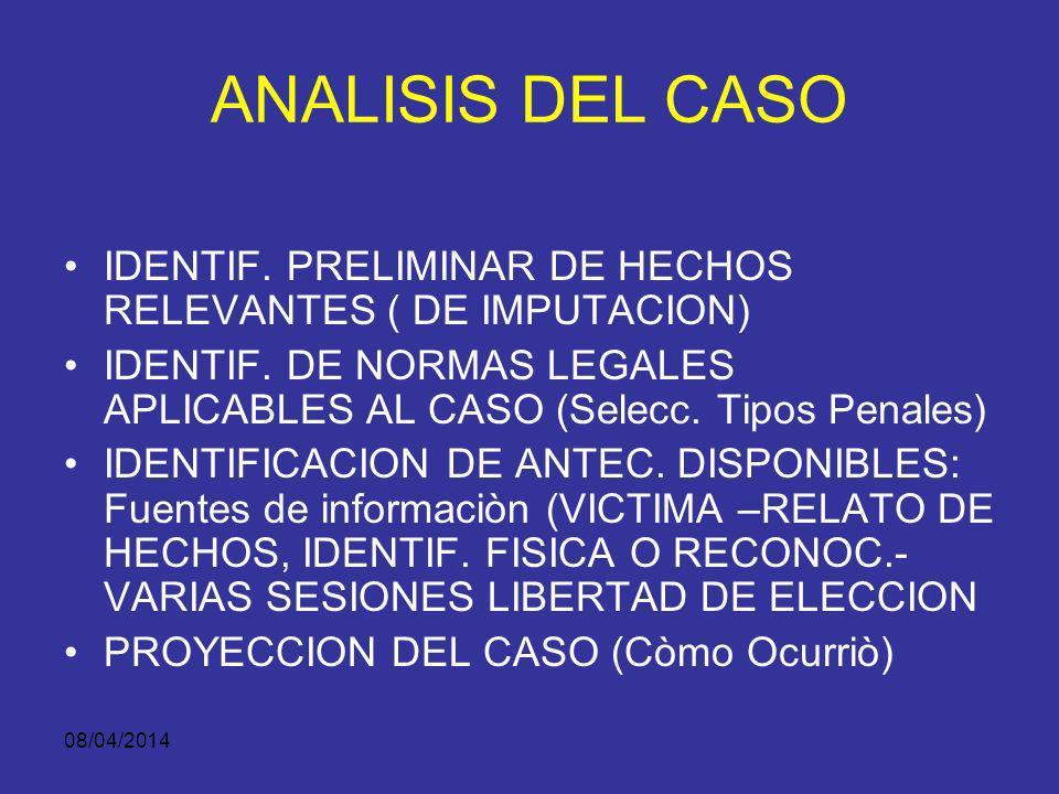 08/04/2014 INVESTIGACIÓN CRIMINAL Es la observación, descripción y análisis de una situación, Para establecer las circunstancias de su ocurrencia, Per