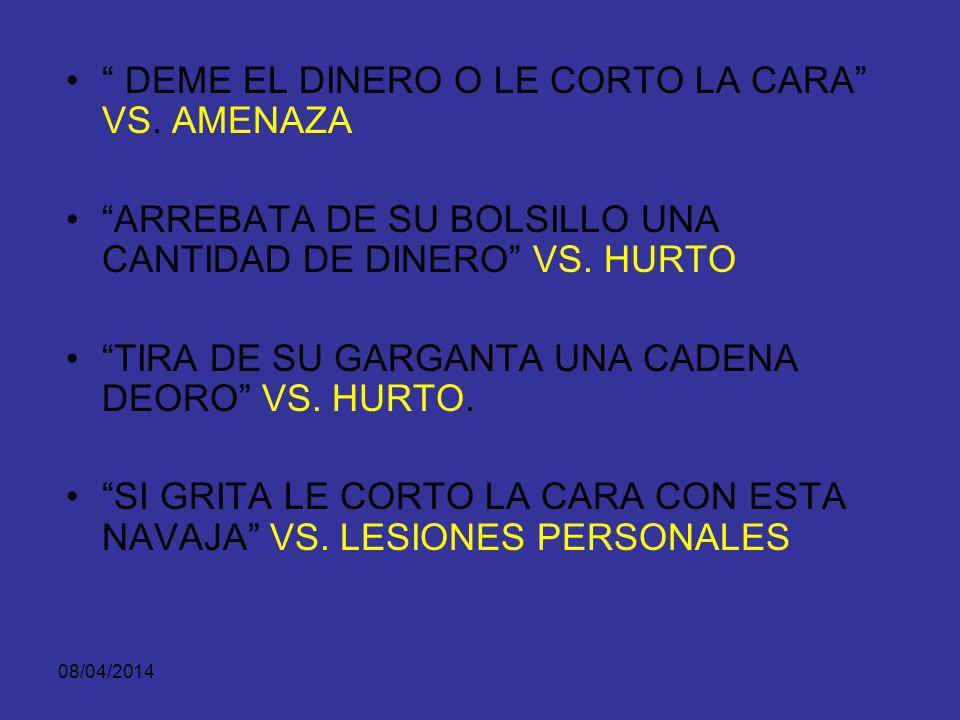 08/04/2014 ANALISIS DEL CASO IDENTIF. PRELIMINAR DE HECHOS RELEVANTES ( DE IMPUTACION) IDENTIF. DE NORMAS LEGALES APLICABLES AL CASO (Selecc. Tipos Pe