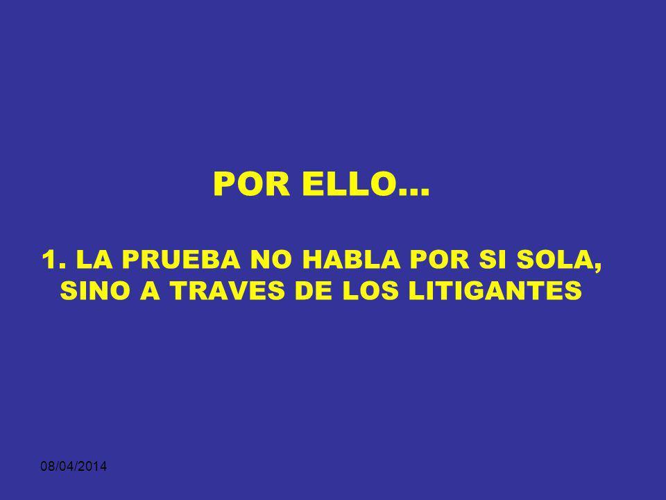 08/04/2014 EL EJERCICIO ESTRATÈGICO NO CONSISTE EN DISTORSIONAR LA REALIDAD AL CONTRARIO, EN PRESENTAR LA PRUEBA DEL MODO QUE MÀS EFECTIVAMENTE CONTRI