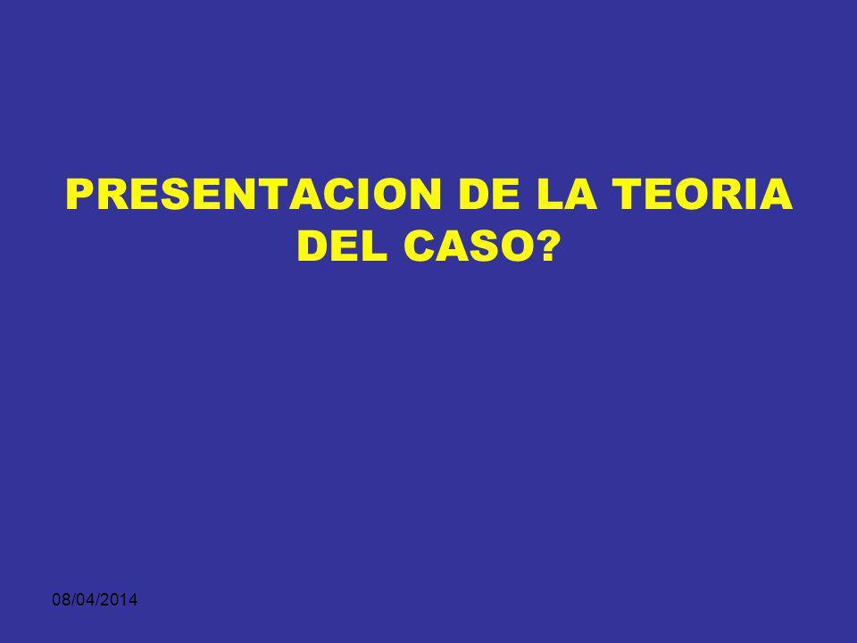 08/04/2014 EL TEMA DENTRO DE LA TEORÍA DEL CASO El tema es el asunto central de la historia persuasiva presentada ante el juez.