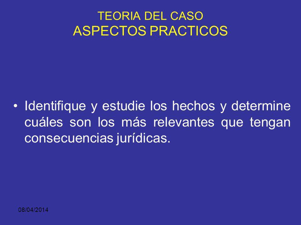 08/04/2014 PREGÚNTESE ANTES DE IR A JUICIO ¿Es lógica, persuasiva, creíble mi Teoría.