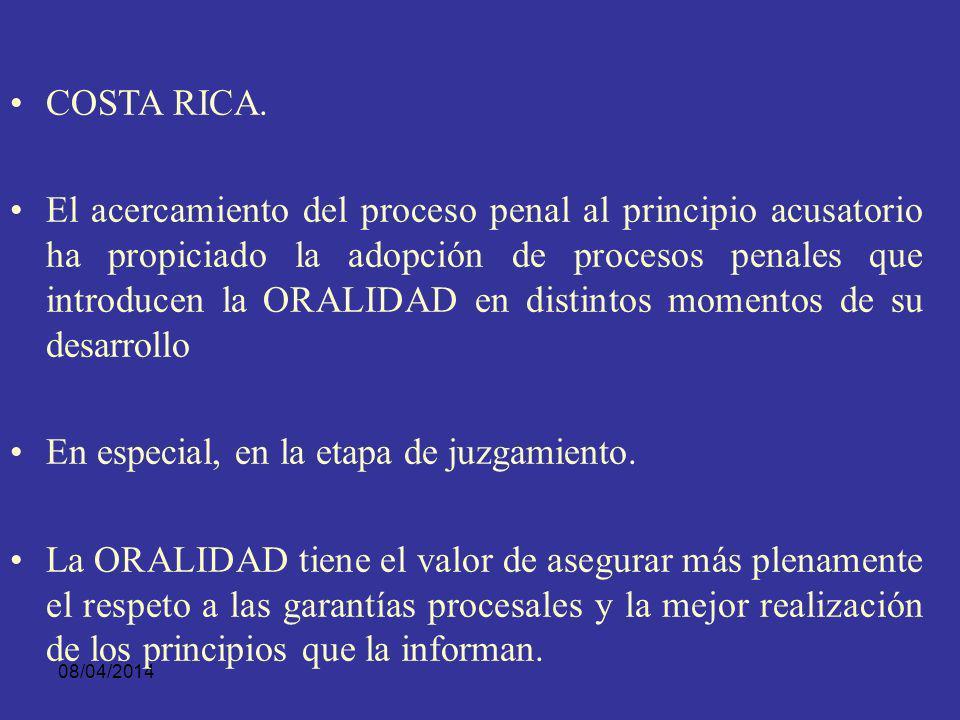 08/04/2014 Que las declaraciones sean de viva voz, La celebración de audiencia con citación de las partes, para que en ella de manera Oral y breve hag