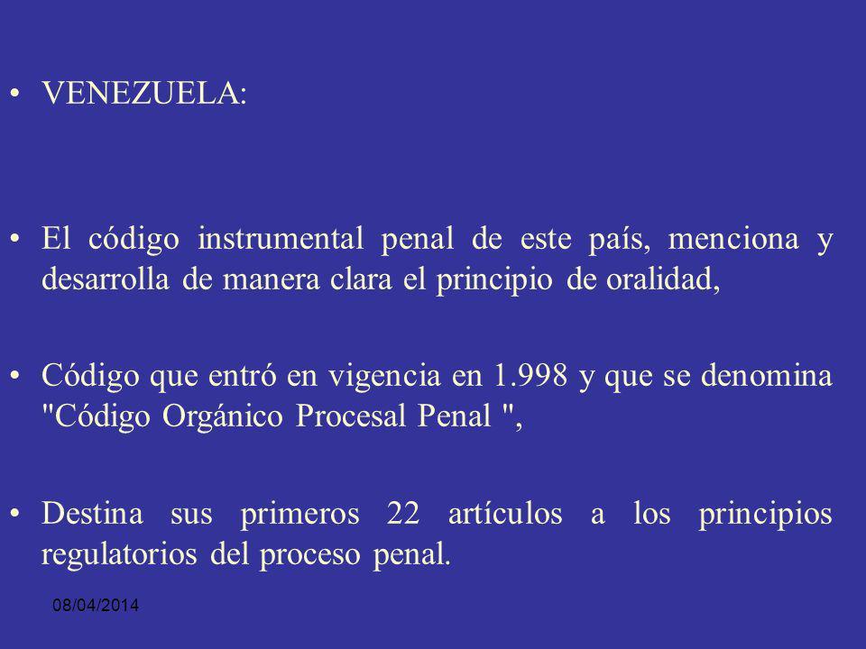 08/04/2014 COSTA RICA. El acercamiento del proceso penal al principio acusatorio ha propiciado la adopción de procesos penales que introducen la ORALI