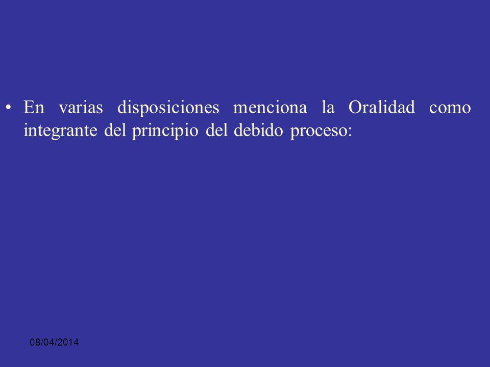 08/04/2014 VENEZUELA: El código instrumental penal de este país, menciona y desarrolla de manera clara el principio de oralidad, Código que entró en v