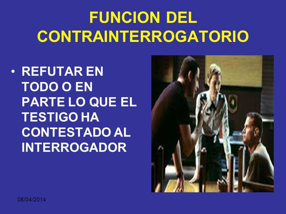 08/04/2014 ¿CUÁL ES EL LÍMITE DEL CONTRAINTERROGATORIO.