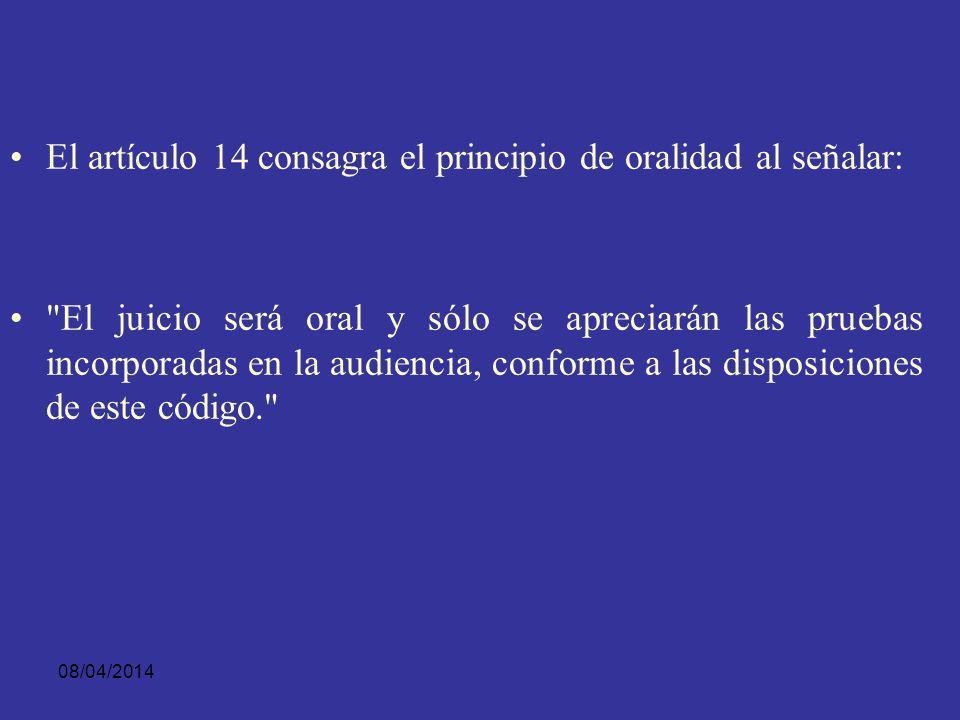 08/04/2014 En su artículo primero dispone: Juicio previo y debido proceso. Nadie podrá ser condenado sin un juicio oral y público, realizado sin dilac