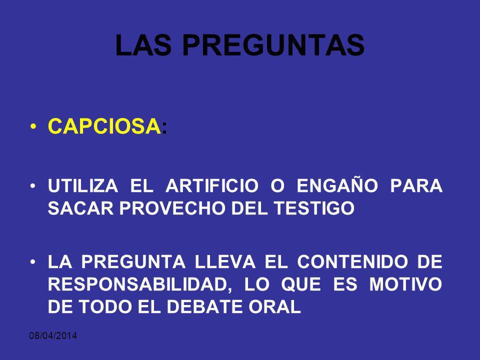 08/04/2014 LAS PREGUNTAS Señora Gloria Davila, cuando Carlos Pastrana hurto la botella de aguardiente, a qué distancia se encontraba Ud.?