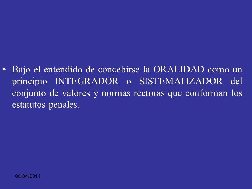 08/04/2014 LA ORALIDAD EN LOS INSTRUMENTOS INTERNACIONALES DE DERECHOS HUMANOS