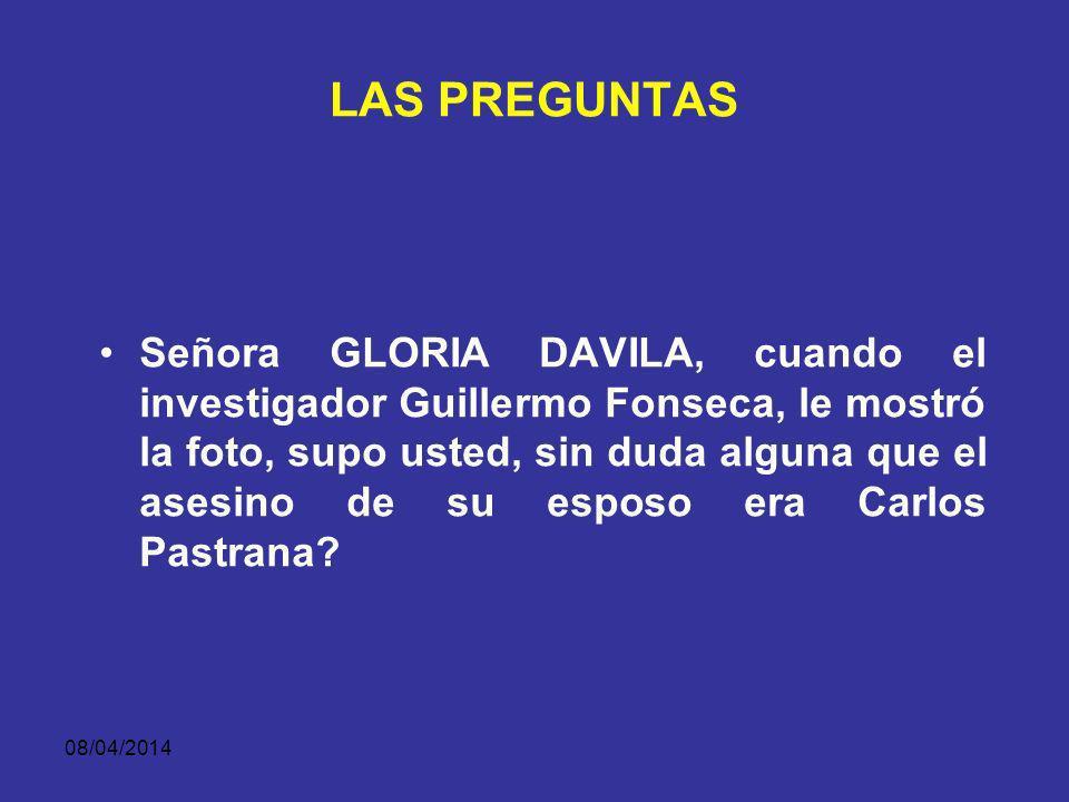 08/04/2014 LAS PREGUNTAS ESPECULATIVA: CREA UNA HIPÓPTESIS PARA QUE EL TESTIGO LA CONFIRME O LA NIEGUE.