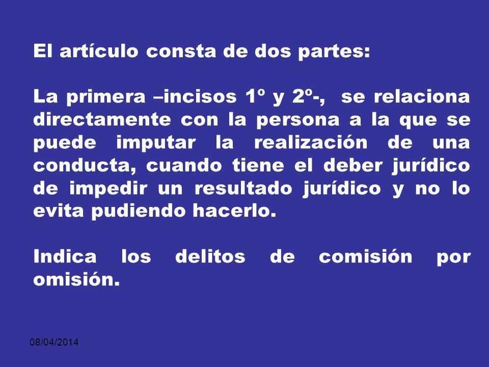 08/04/2014 Bajo el título de Acción y Omisión.