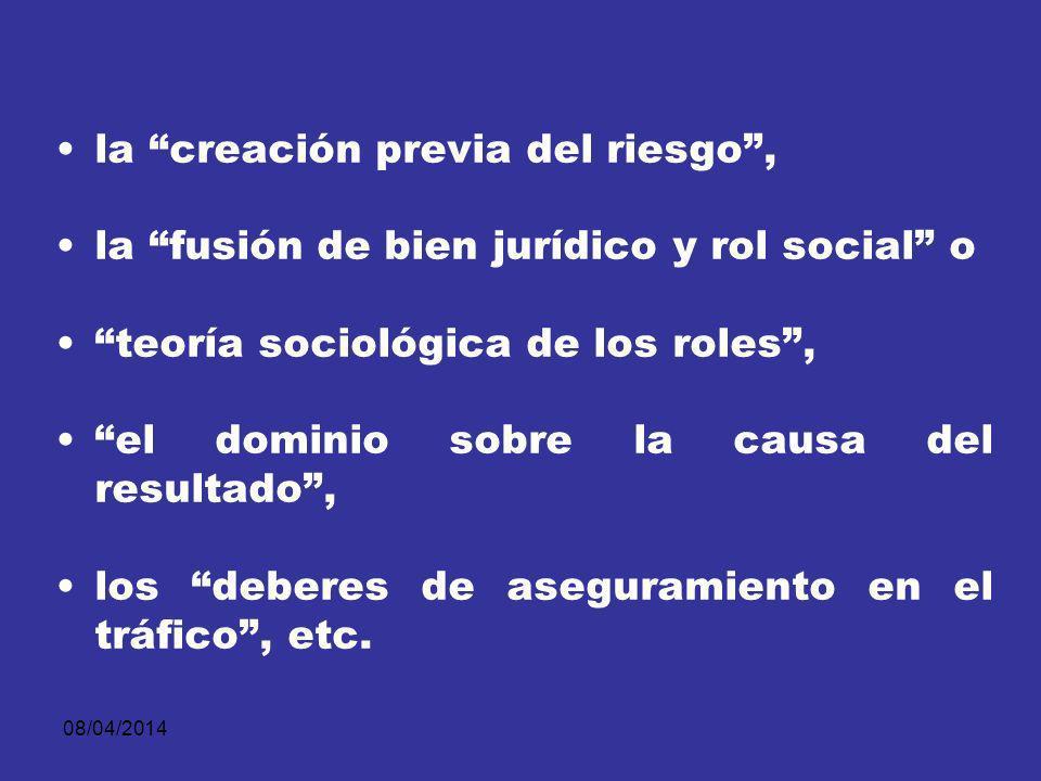 08/04/2014 Como la cercanía o proximidad social, la relación social especialmente estrecha, las relaciones de confianza, Las situaciones de compenetración social, los vínculos de solidaridad,