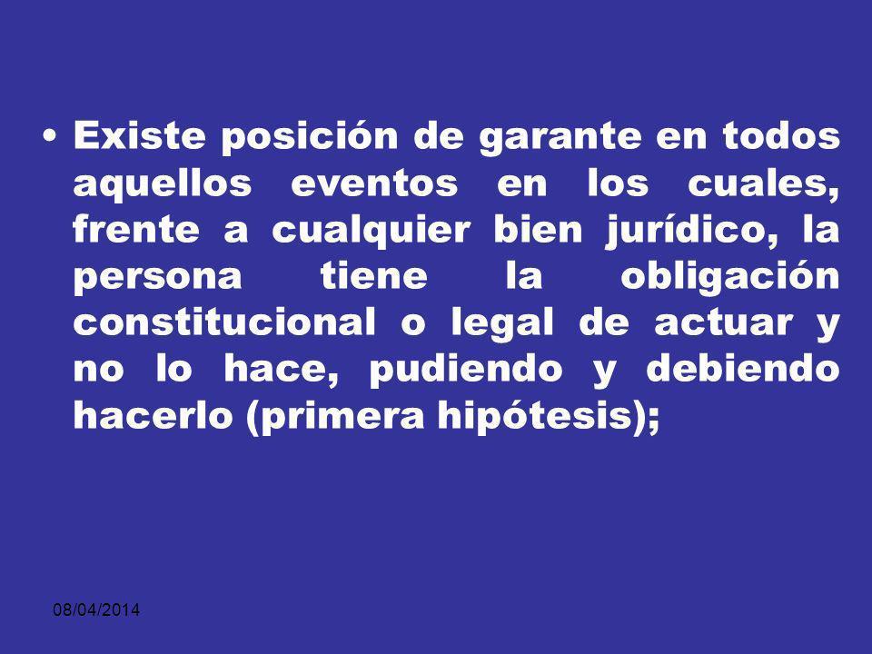08/04/2014 la creación previa del riesgo, la fusión de bien jurídico y rol social o teoría sociológica de los roles, el dominio sobre la causa del resultado, los deberes de aseguramiento en el tráfico, etc.