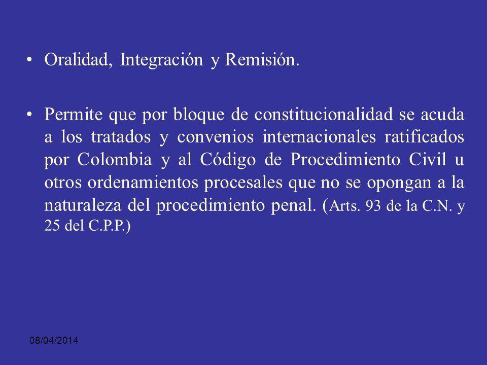 08/04/2014 Oralidad, Celeridad y Eficiencia.