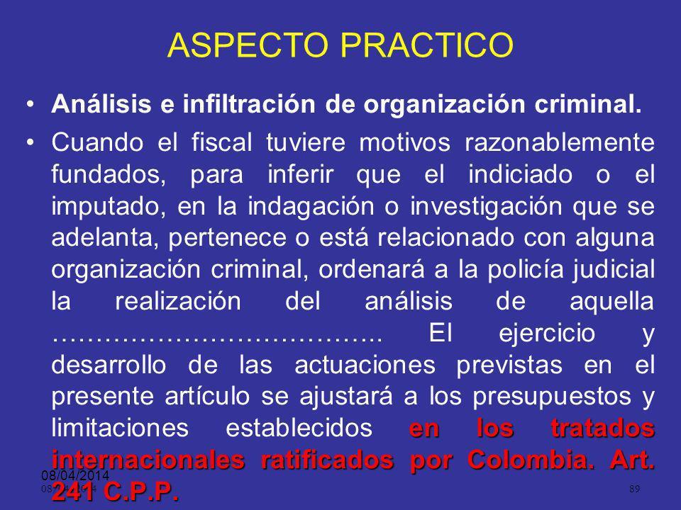 08/04/2014 88 Aspecto práctico.ART. 124.Derechos y facultades. La La defensa podrá ejercer todos los derechos y facultades que los tratados internacio