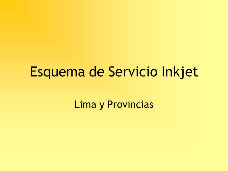 Esquema de Servicio Inkjet Lima y Provincias