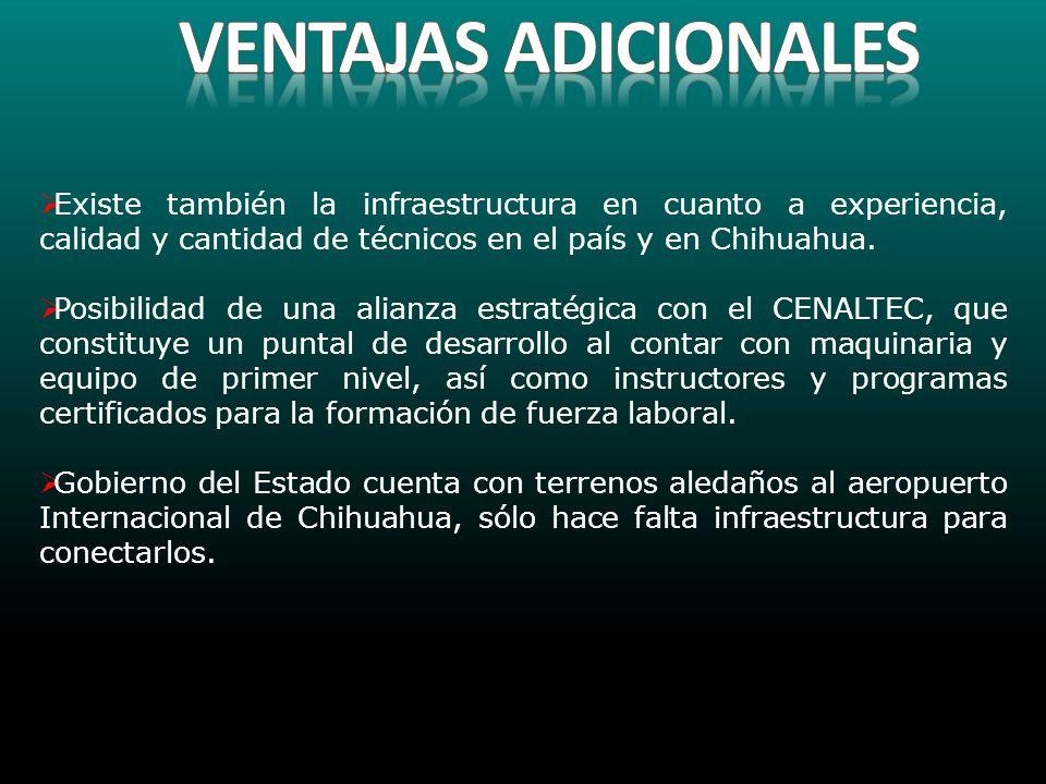 Existe también la infraestructura en cuanto a experiencia, calidad y cantidad de técnicos en el país y en Chihuahua. Posibilidad de una alianza estrat