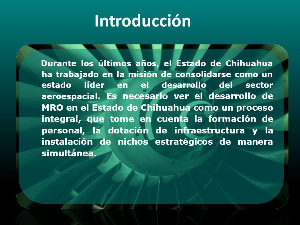 Esta investigación busca determinar la viabilidad de la instalación de un centro de mantenimiento y reparación en el Estado de Chihuahua y el perfil del proceso de Mantenimiento Aeronáutico ideal para ser desarrollado y operado.