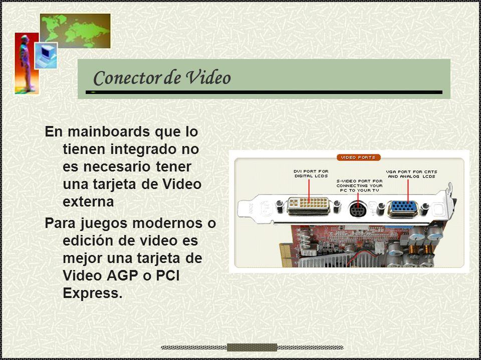 En mainboards que lo tienen integrado no es necesario tener una tarjeta de Video externa Para juegos modernos o edición de video es mejor una tarjeta