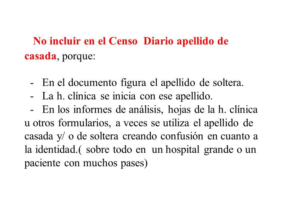 - Solo se informan los pacientes que registran movimientos.