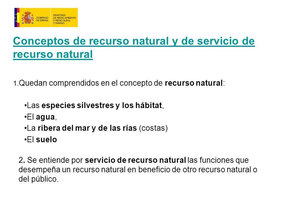 Conceptos de recurso natural y de servicio de recurso natural 1.